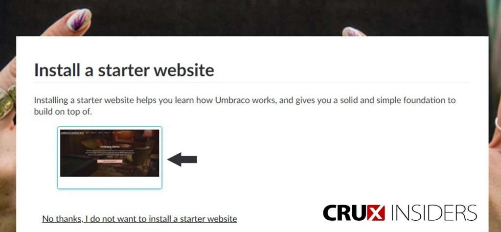 Step-8-install-starter-website-template-on-umbraco-CMS